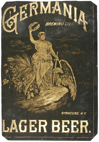 3383: c. 1880s GERMANIA LAGER Advertising Sign