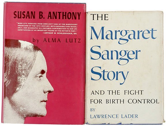 Lot 2: 2 Women's Rights Biographies Signed