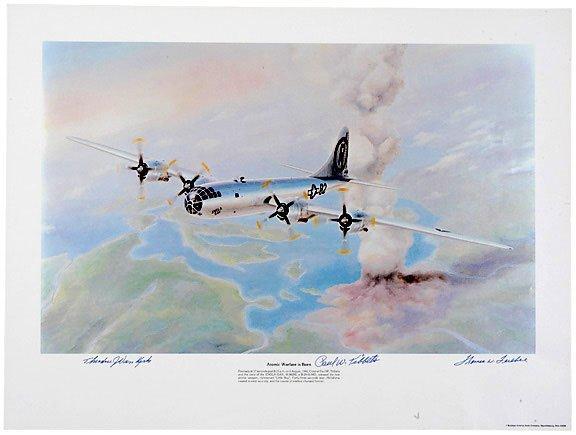 Lot 6: Hiroshima A-Bomb Crew Signed Print
