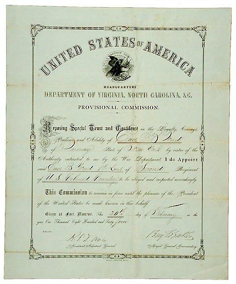 Lot 11: Gen.Benjamin Butler Signed Document