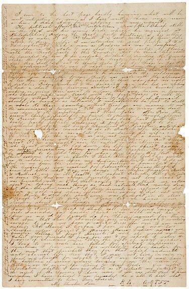 Lot 13: Cherokee Nation Treaty, 1835