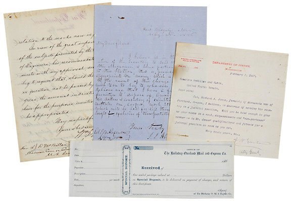 Lot 18: 3 Signed Letters-Confederate Gen.
