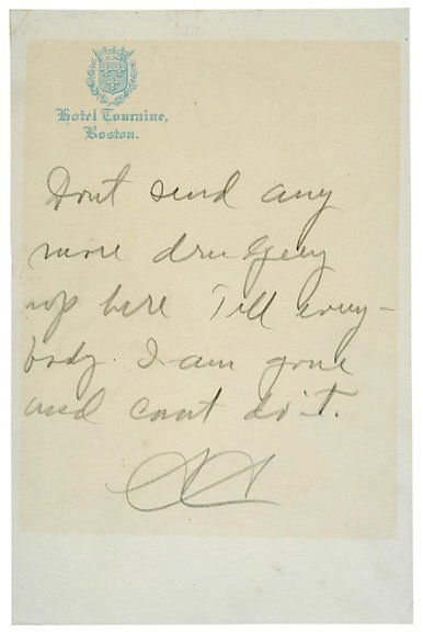 Lot 24: Calvin Coolidge Signed Note