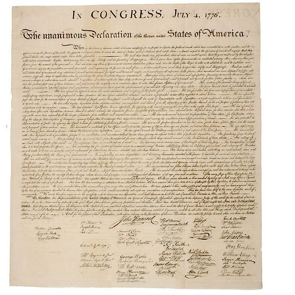 Lot 34: Rice Paper Decl. of Independence