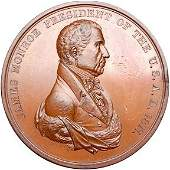 Lot 1094:1817 James Monroe Indian Peace Medal