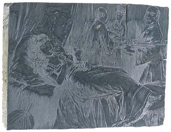 Lot 1474: c1870 San Francisco opium Den Print