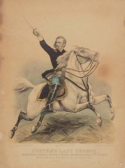 Lot 1475: 1876 Currier & Ives Print - Custer