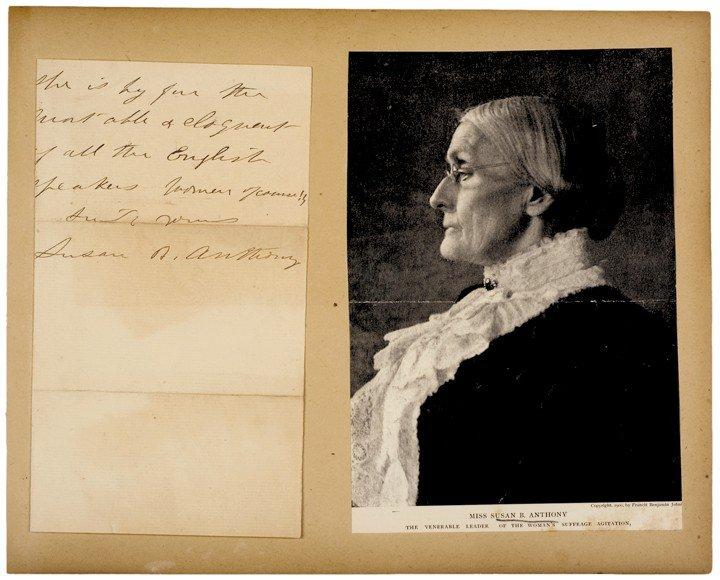 SUSAN B. ANTHONY. American Civil Rights Leader