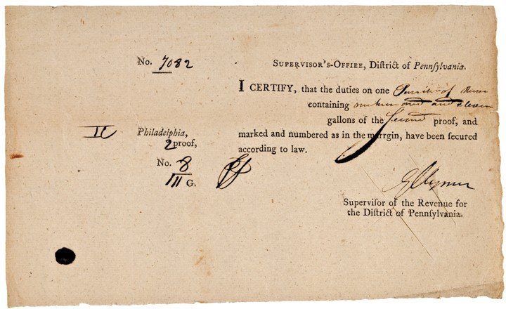 GEORGE CLYMER, c. 1792, Document Signed