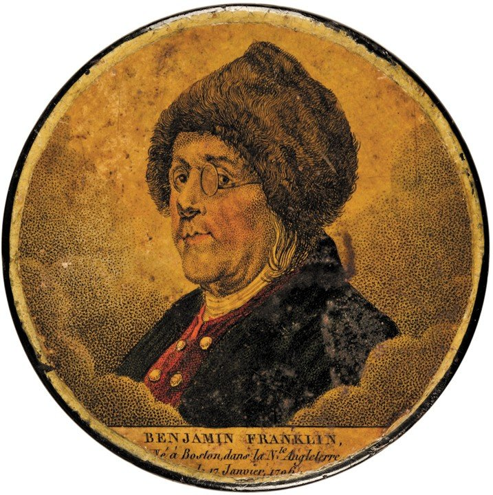 c. 1805, Benjamin Franklin Portrait Snuff Box