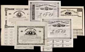 Lot of Five Historic Confederate War Bonds