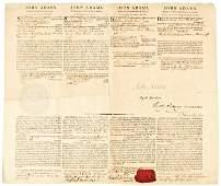 2: JOHN ADAMS, 1797 Signed Four Language Ships Paper