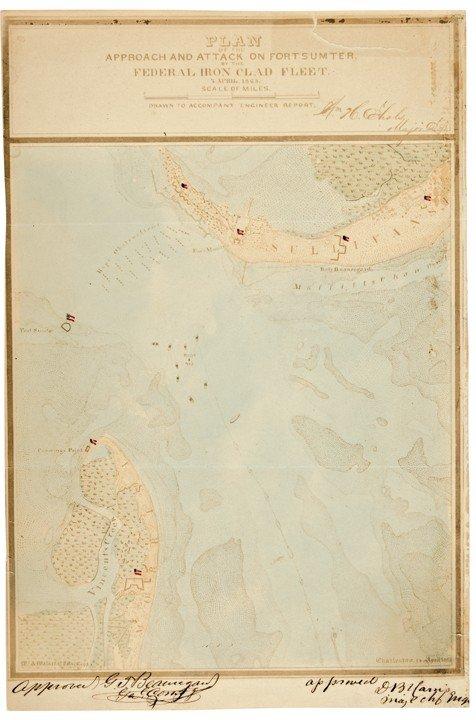 3: Historic Map Signed By CSA General PGT BEAUREGARD