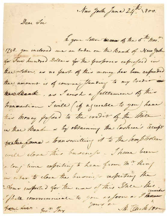 5: 1800 Autograph Letter Signed By MATTHEW CLARKSON