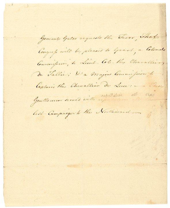 13: HORATIO LLOYD GATES, Autograph Document Signed