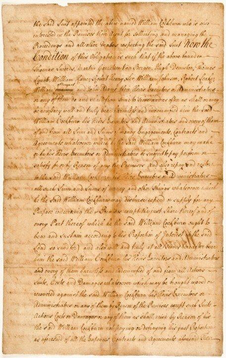 21: WILLIAM JOHNSON, 1769 Manuscript Document Signed - 2