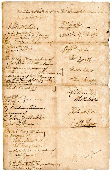 21: WILLIAM JOHNSON, 1769 Manuscript Document Signed - 3