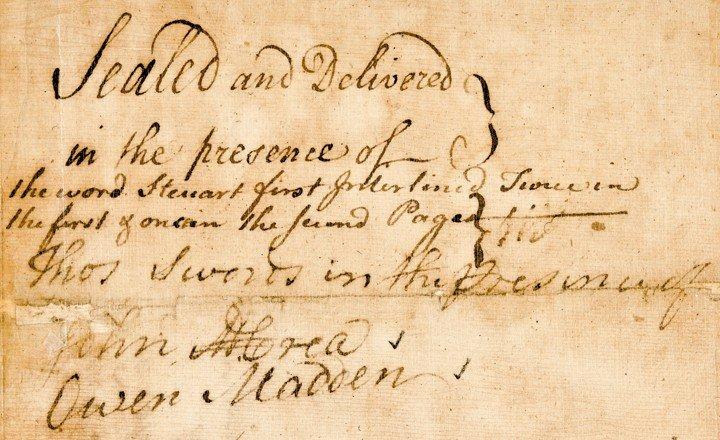 21: WILLIAM JOHNSON, 1769 Manuscript Document Signed - 4