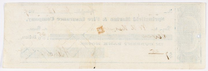 26: ABRAHAM LINCOLN, Signed Personal Check - 2
