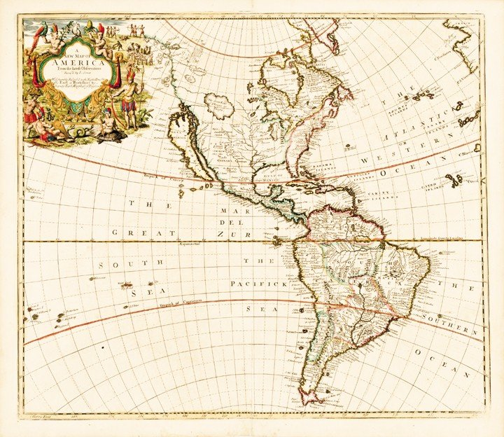 109: 1721 - Map of America, California as an Island