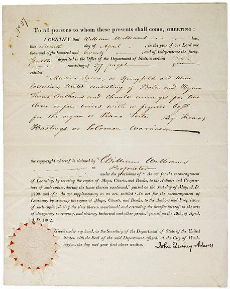 2: JOHN QUINCY ADAMS Signed Document 1820