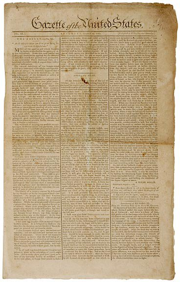 18: GAZETTE OF THE UNITED STATES,1789 BILL OF RIGHTS