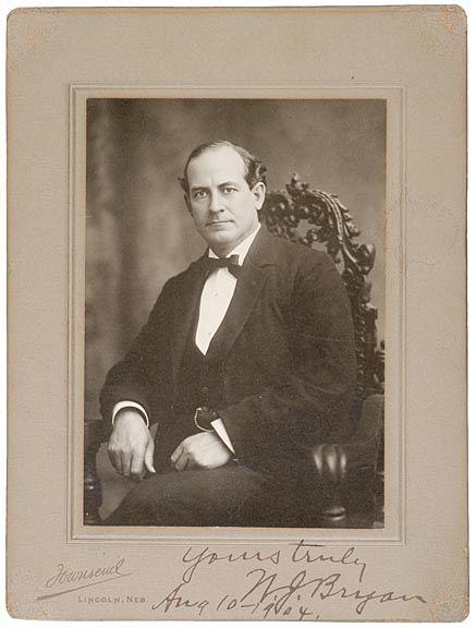 WILLIAM JENNINGS BRYAN Signed Photo1904