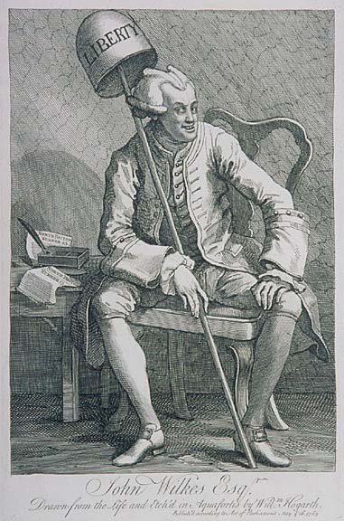 241: JOHN WILKES, Etching by William Hogarth