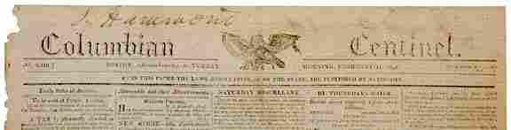 410: 1815 Boston Newspaper - Battle of New Orleans