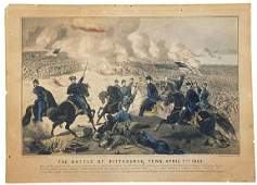 c. 1862 Currier & Ives Civil War Print