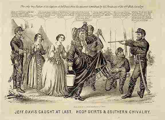 761: Lithograph Satirical Cartoon of Jefferson Davis