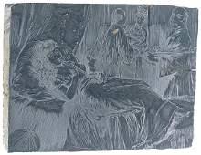 995: c. 1870, Original Woodblock Printing: Opium Den