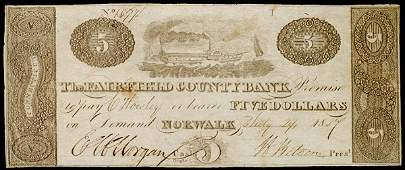 1218: Obsolete Currency, CT, Fairfield County Bank, $5