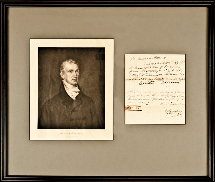 JAMES MONROE 1814 Payment to a Soldier Authorized