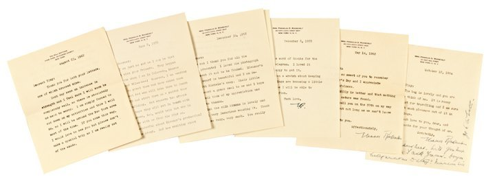 ELEANOR ROOSEVELT, Six Typed Letters Signed
