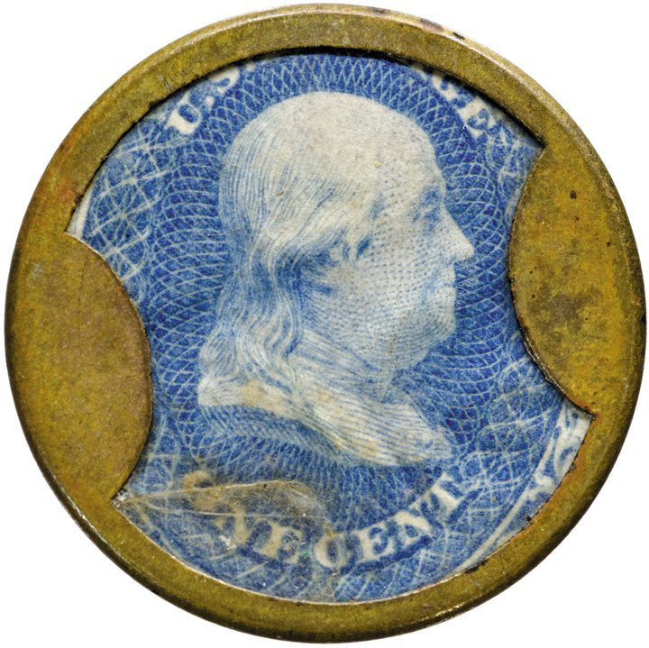 4: Encased Postage Stamp, EP-6a, 1¢, FANCYGOODS