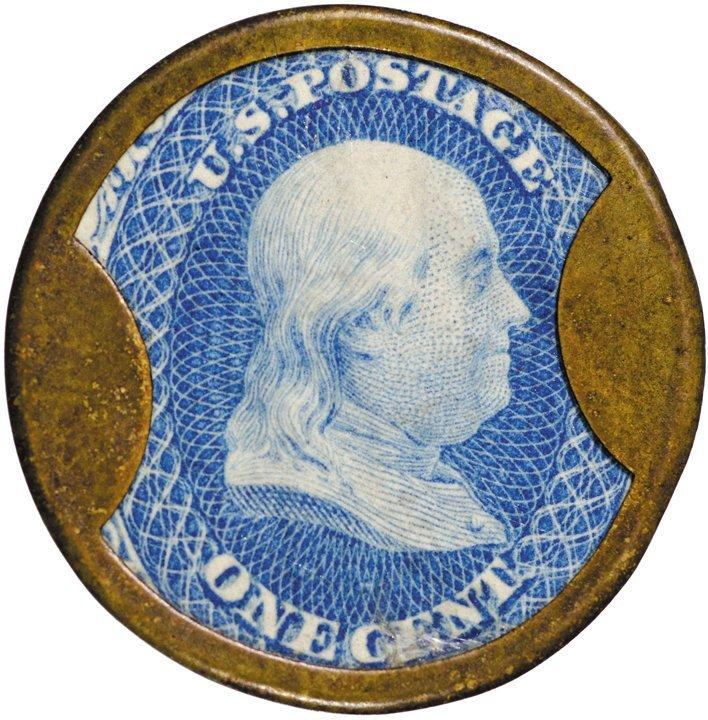 6: Encased Postage Stamp, EP-16, 1¢,F. BUHL