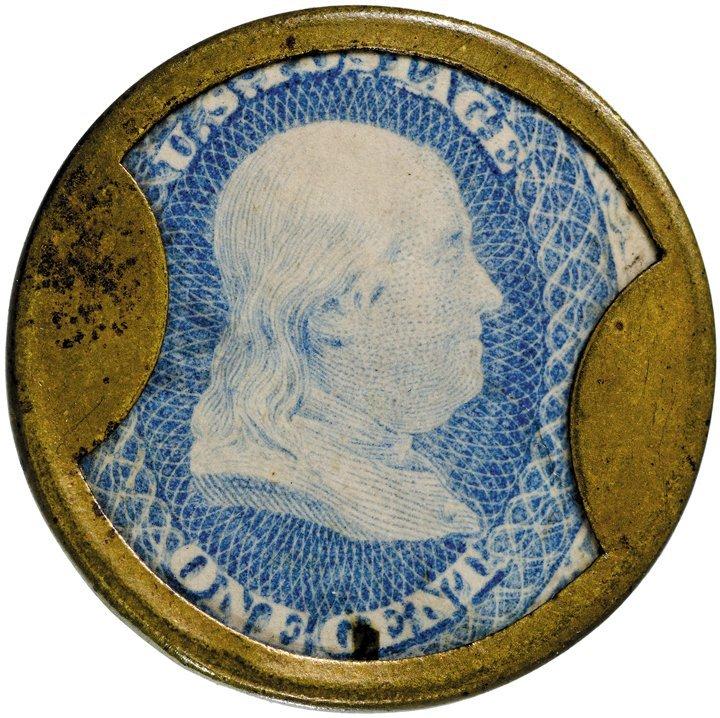 8: Encased Postage Stamp, EP-23, 1¢, JOHN W. NORRIS