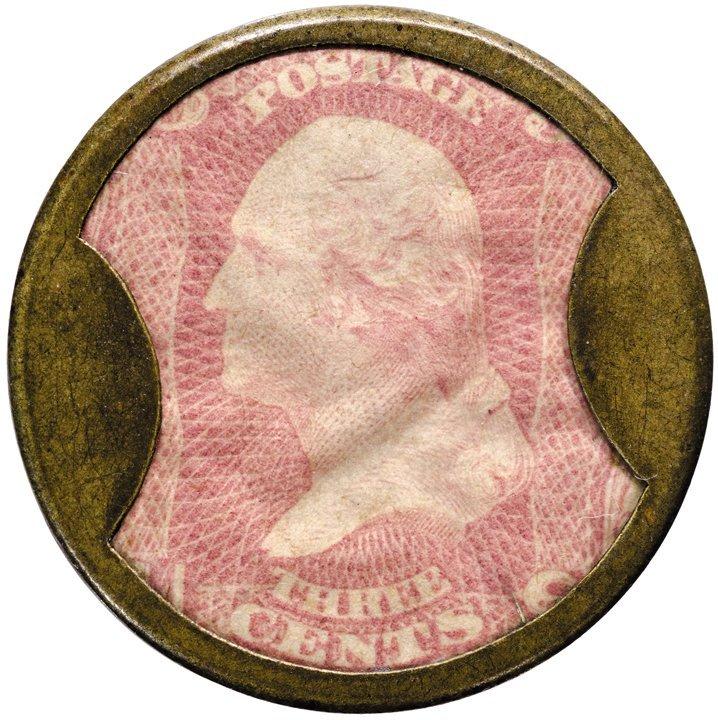 15: Encased Postage Stamp, EP-34, 3¢, AYERS SARSAPARILL
