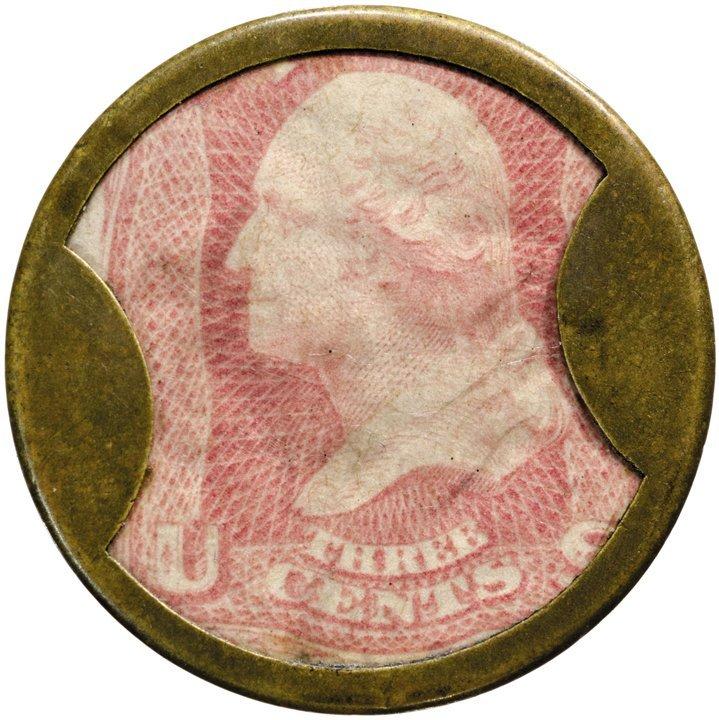 16: Encased Postage Stamp, EP-34b, 3¢, AYERS SARSAPARIL