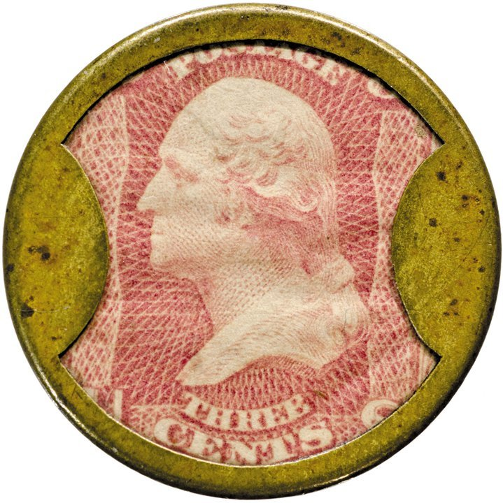 17: Encased Postage Stamp, EP-36, 3¢, BAILEY & CO