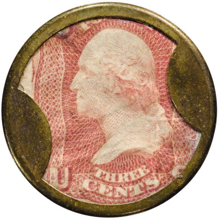 18: Encased Postage Stamp, EP-38, 3¢, BROWNS BRONCHIAL