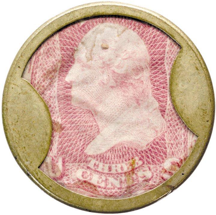 19: Encased Postage Stamp, EP-40, 3¢, BURNETTS STANDARD