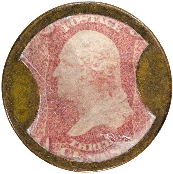 20: Encased Postage Stamp, EP-45, 3¢, TREMONT HOUSE