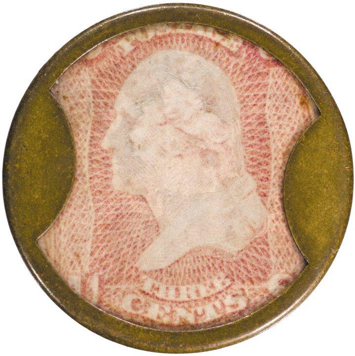 21: Encased Postage Stamp, EP-46, 3¢, J. GAULT