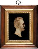 233 Abraham Lincoln Wax Profile Bust Presentation