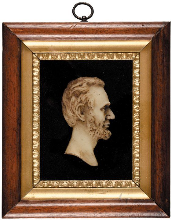 233: Abraham Lincoln Wax Profile Bust Presentation