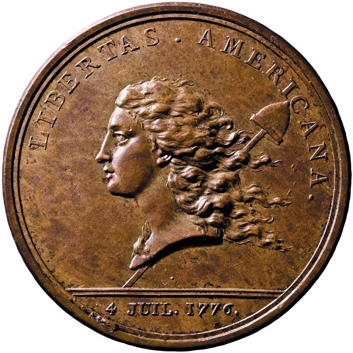 379: Mint State Copper LIBERTAS AMERICANA Medal