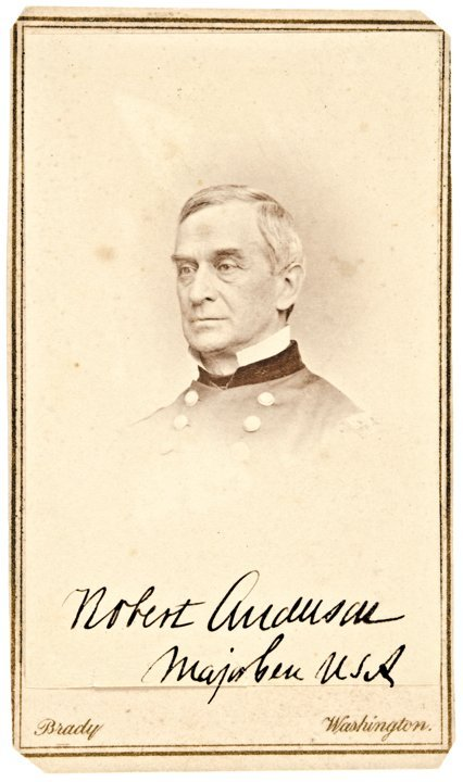 ROBERT ANDERSON, Signed Carte de Visite, c. 1863