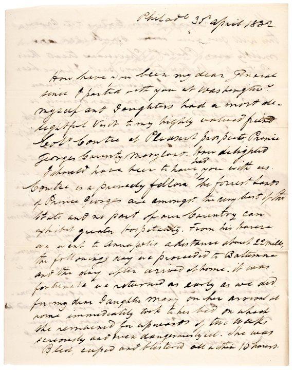 WILLIAM BAINBRIDGE, Autograph Letter Signed 1832